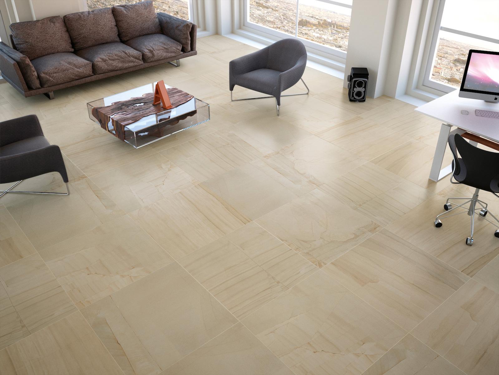 Big tile flooring