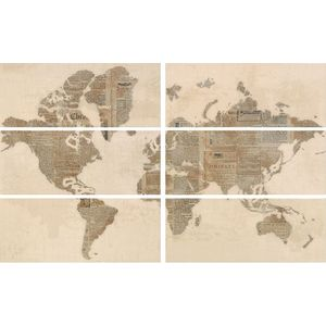Decor Set(6) The World Beige 20x50