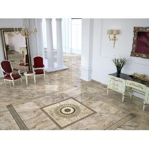 Flooryou Natural 60x60, Roseton Uno Natural 60x60, Cenefa Uno Natural 13,5x60, Taco Uno Natural 13,5x13,5